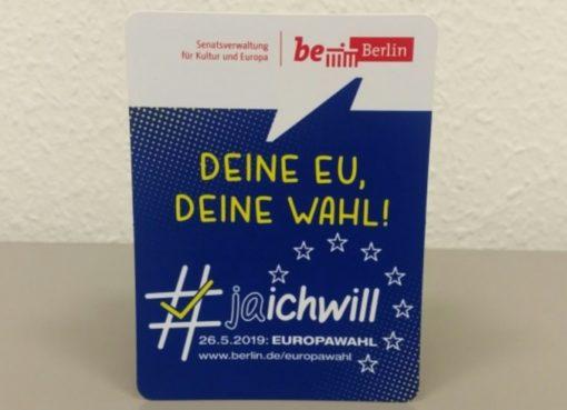 Jugend-Pocketflyer zur Europawah