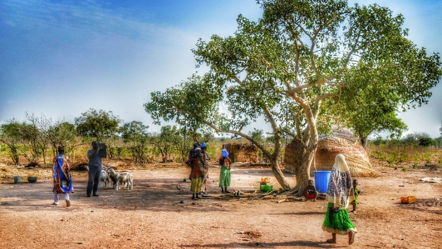 Dorf in Ghana