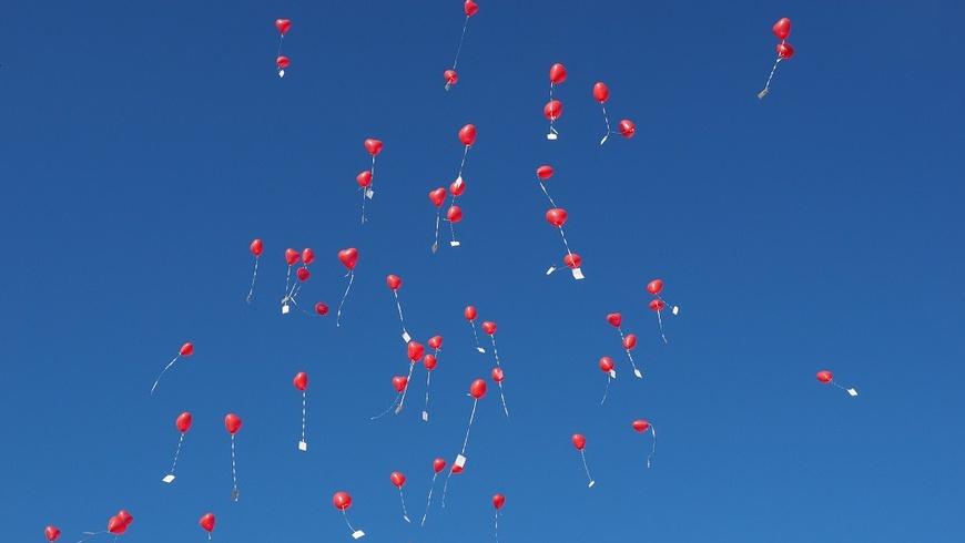 Gasgefüllte Luftballons