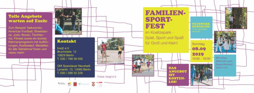 4. Familiensportfest im Koeltzepark am 8.9.2019
