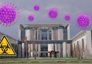 Bundeskanzleramt im Zeichen des Corona-Virus