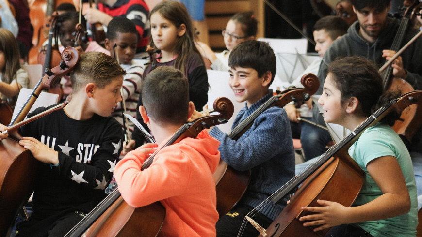Projekt CJD Panorama: Kinder musizieren - Foto: Alexander Leitow