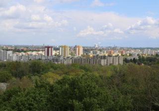 Blick vom Hahneberg auf die Louise Schroeder Siedlung
