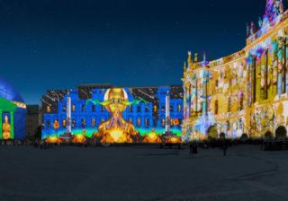Der Bebelplatz beim Festival of Lights 2018