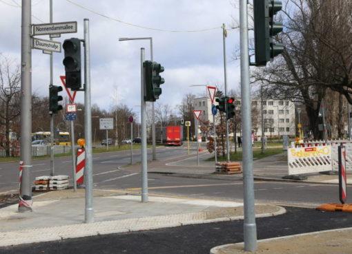 Baustelle am Ferdinand-Friedensburg-Platz