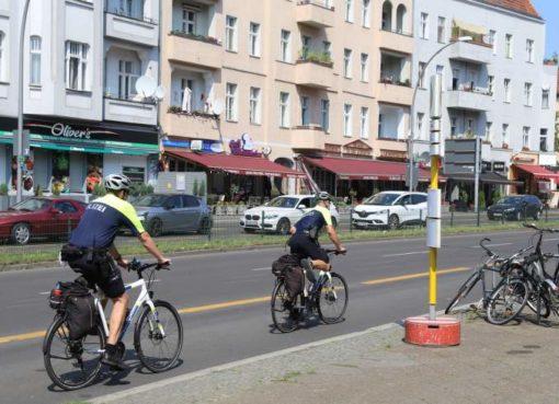 Fahrradstreife der Polizei Berlin
