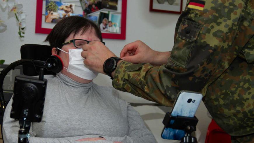 Bundeswehr hilft mit Impfteams