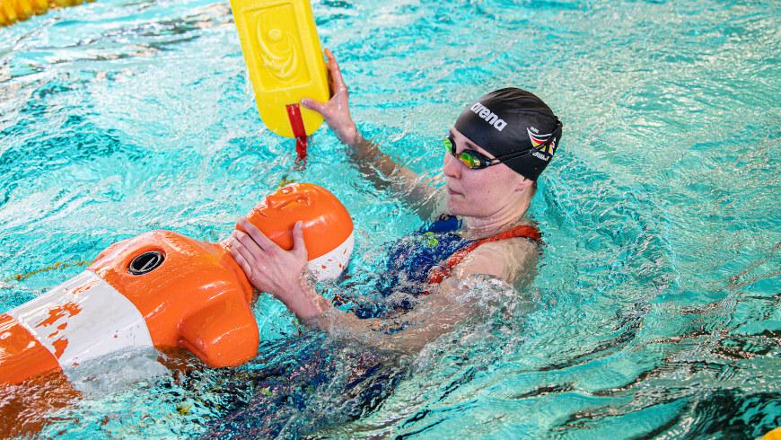 Routinier Kerstin Lange bei einem Qualifikationswettkampf